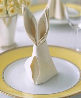 coelho, guardanapo, decoração mesa páscoa