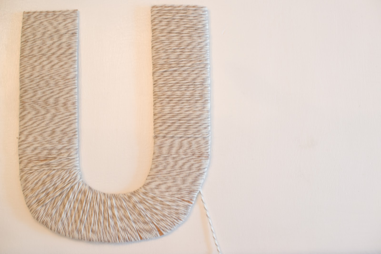 cardboard letters covered in yarn Another yarn covered monogram letter tutorial includes how to make your own 3d letter so you don't have to buy a paper mache or wood letter from the store.