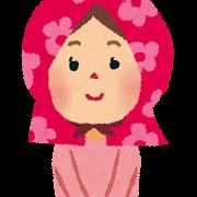 地震のイラスト「防災頭巾の女の子」