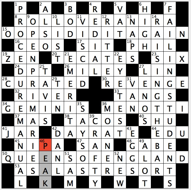 Rex Parker Does The NYT Crossword Puzzle Vaccine Letters