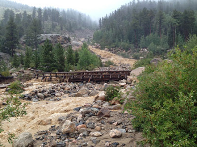 Get Well, Colorado! Alluvial Fan, Rocky Mountain National Park, Estes Park www.thebrighterwriter.blogspot.com #2013ColoradoFlood #Coloradoflood #estespark #mountainstrong #RMNP #Alluvialfan