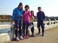大濠公園でのマラソン練習2013年