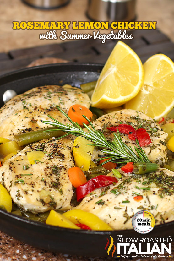 Rosemary Lemon Chicken Skillet with Summer Veggies