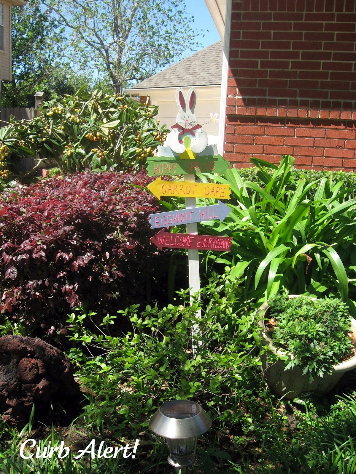 Happy Easter {Bunny Yard Decor}