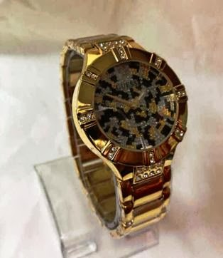 Jam Guess Leopard Diamond Gold