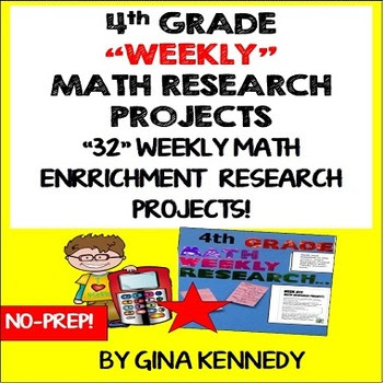 4TH GRADE MATH RESEARCH PROJECTS