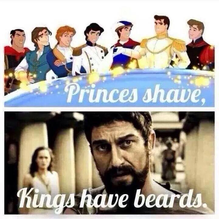 Príncipes barbeiam-se, réis têm barbas