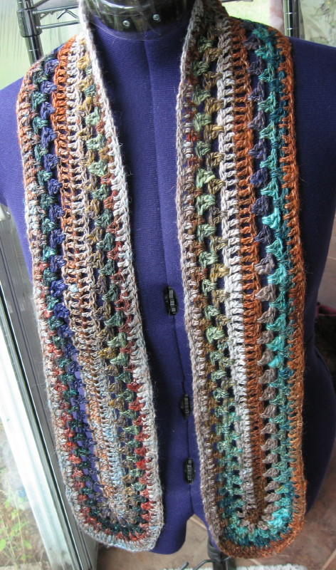 Simple Knits: Granny Mile-a-Minute Scarf to crochet
