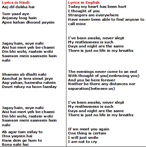 Jal Pari lyrics by Atif Aslam with meaning. Jal Pari ...
