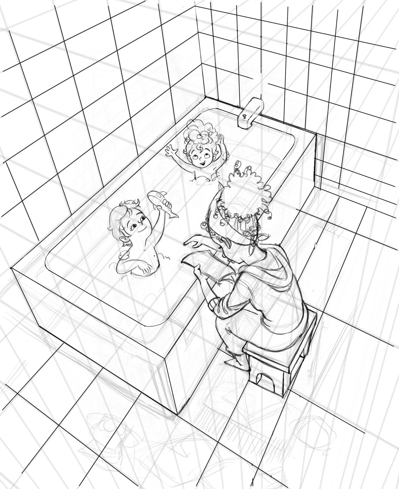 Bathroom perspective drawing - Learn Perspective It S Boring And Tedious But It S Your Friend In The Long Run