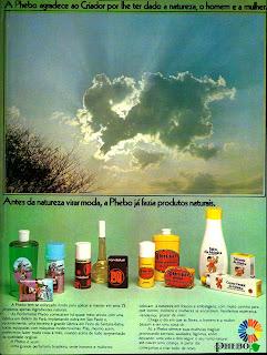 propaganda Phebo - 1976. anos 70.  Reclame 1976.  década de 70. os anos 70; propaganda na década de 70; Brazil in the 70s, história anos 70; Oswaldo Hernandez;