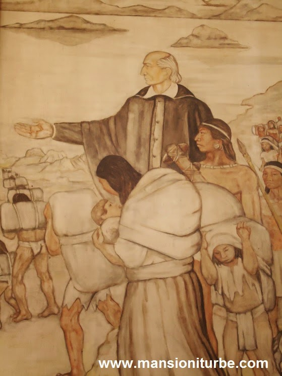 Mural of Vasco de Quiroga in Patzcuaro