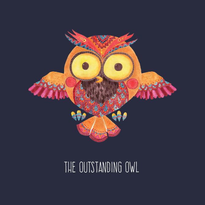 The Outstanding Owl Illustration by Haidi Shabrina