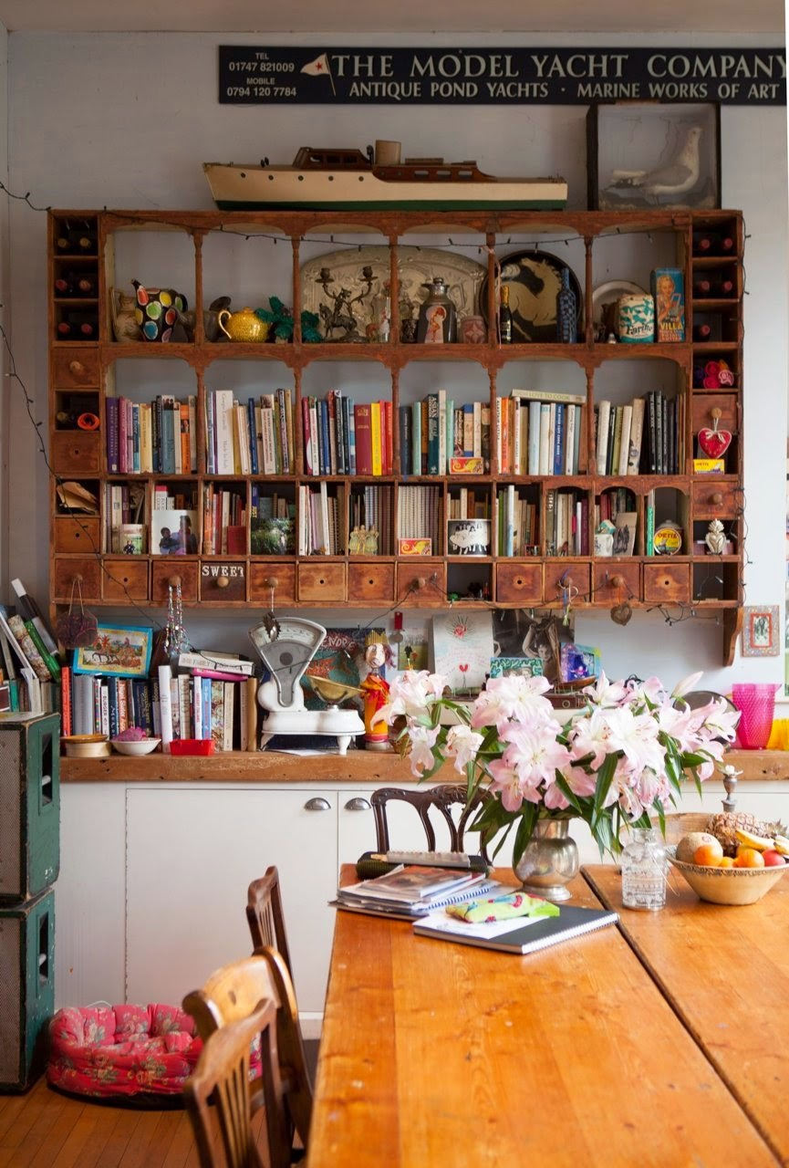 Moon to moon the colourful eclectic home of josh and caro for English cottage kitchen pictures