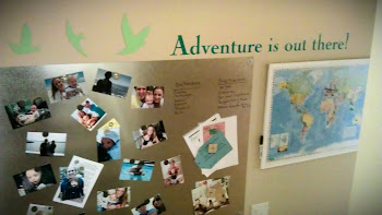 Our adventure wall at home