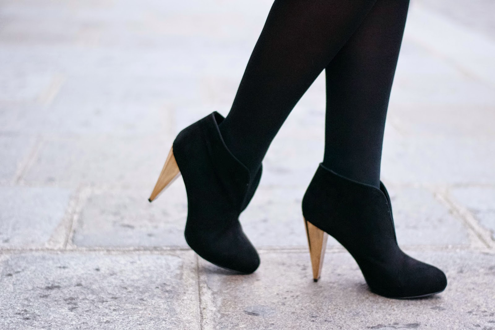 Gold heeled Boots