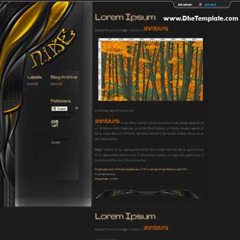 Nike blogger template. personal blogger template