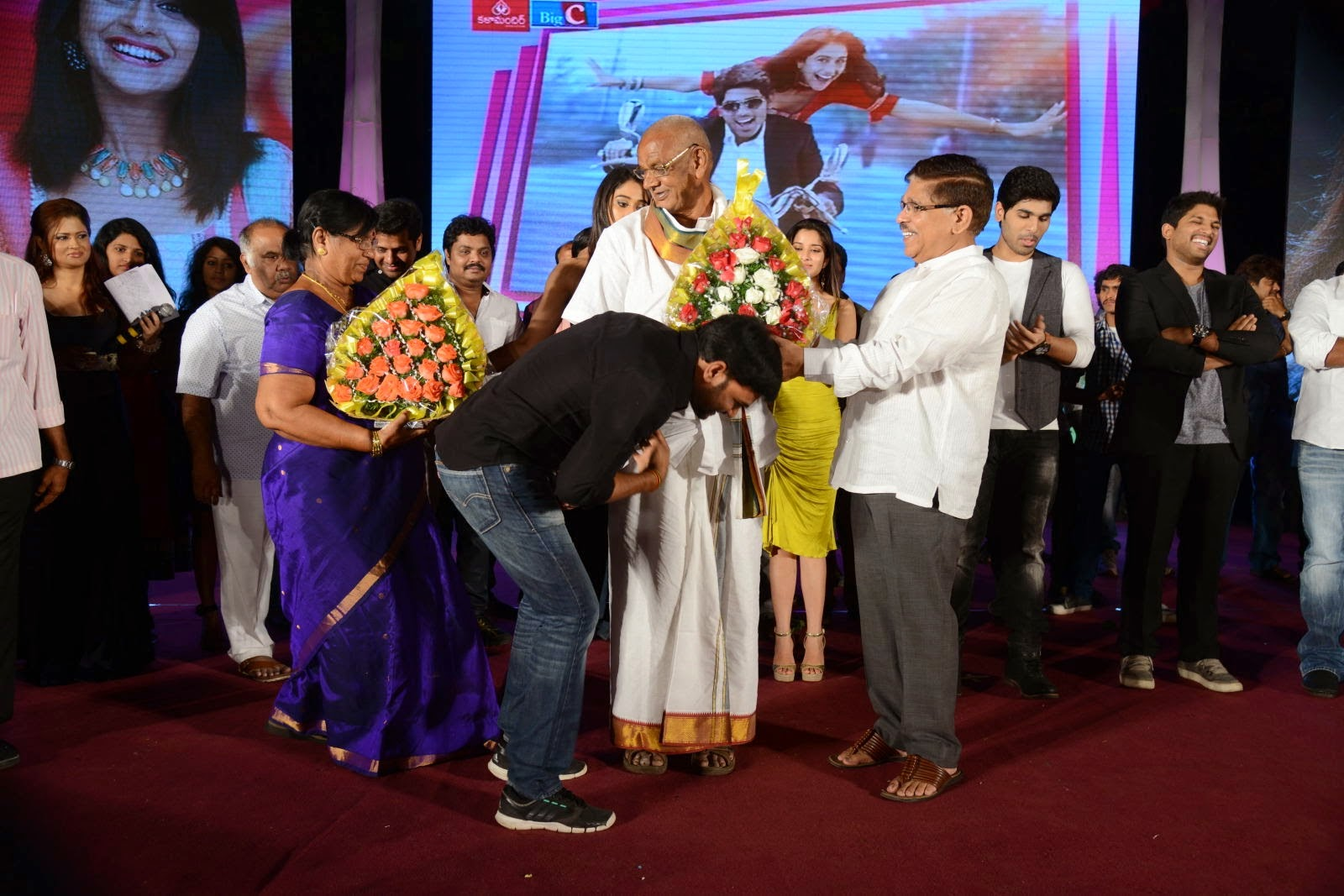 ... at the Kotha Janta Movie Audio Launch happene on 12th of this month