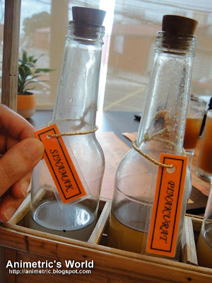 Vinegar selection at Longganisa Sorpresa