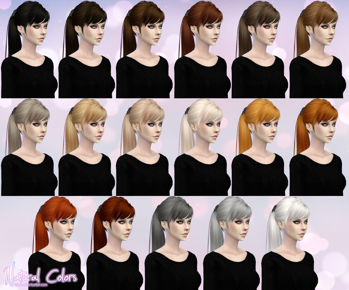 The sims 4 hair accessories - Skysims Hair Retexture For Females By Aveirasims