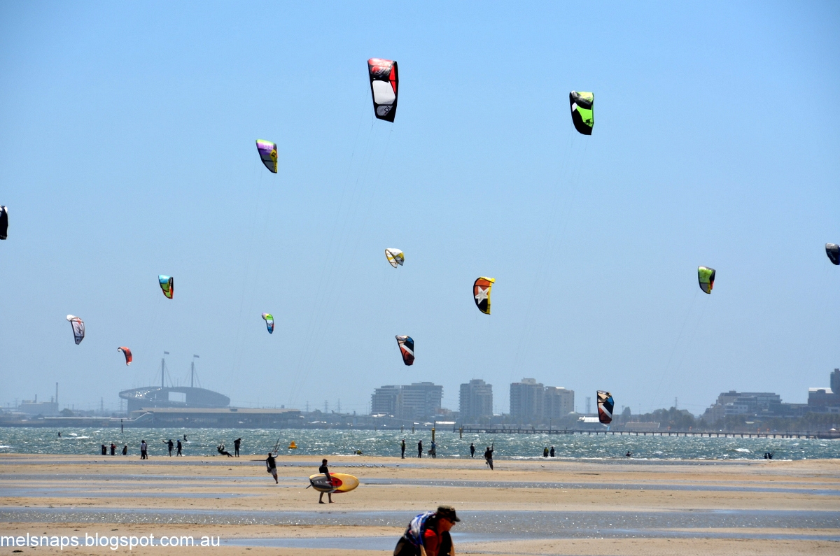 Kite Surfing At St Kilda Beach Has Become A Very Popular Sport Me Mrs J We Sat At The West Beach Bathers Pavilion Watching The Spectacle