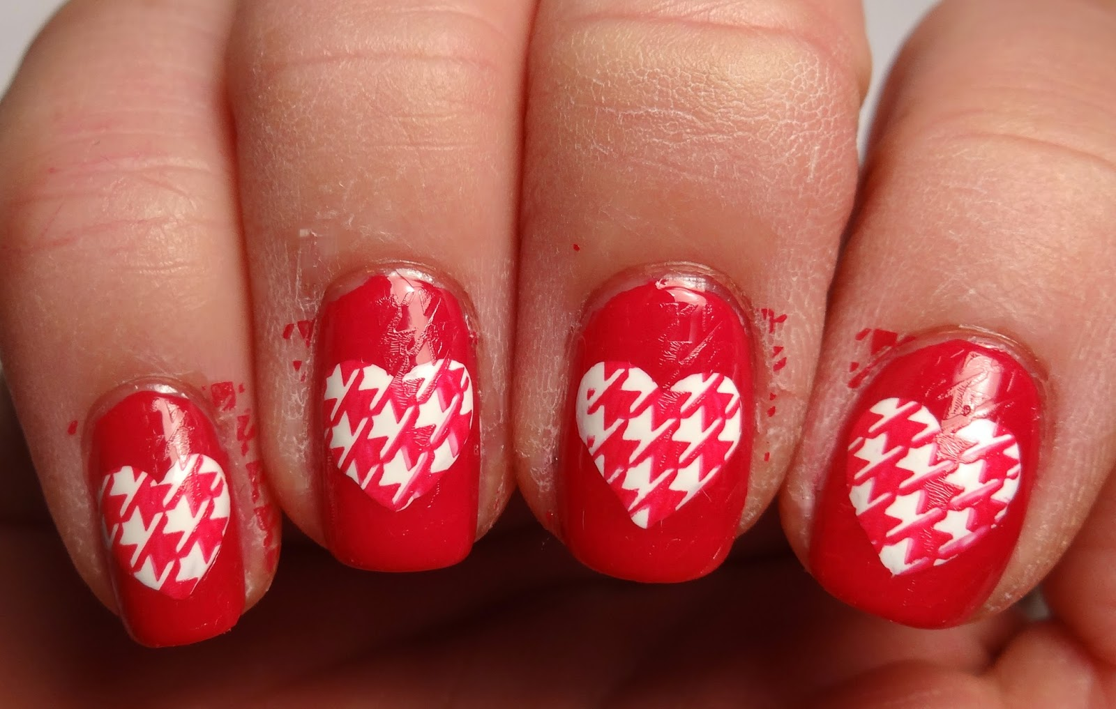Houndstooth Hearts