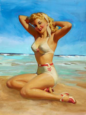 Art Frahm Pin Up Beach