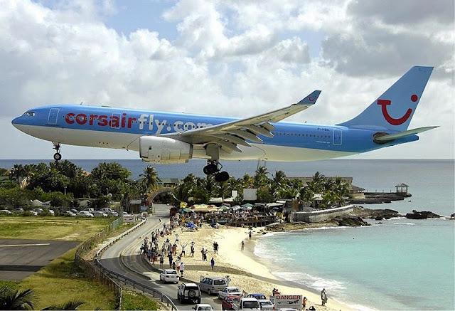Tocando el avión: aterrizajes extremos en Maho Beach, San Martín