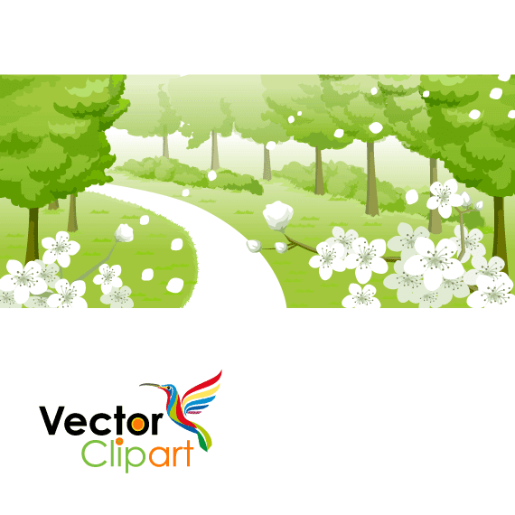 Sendero rural - Vector