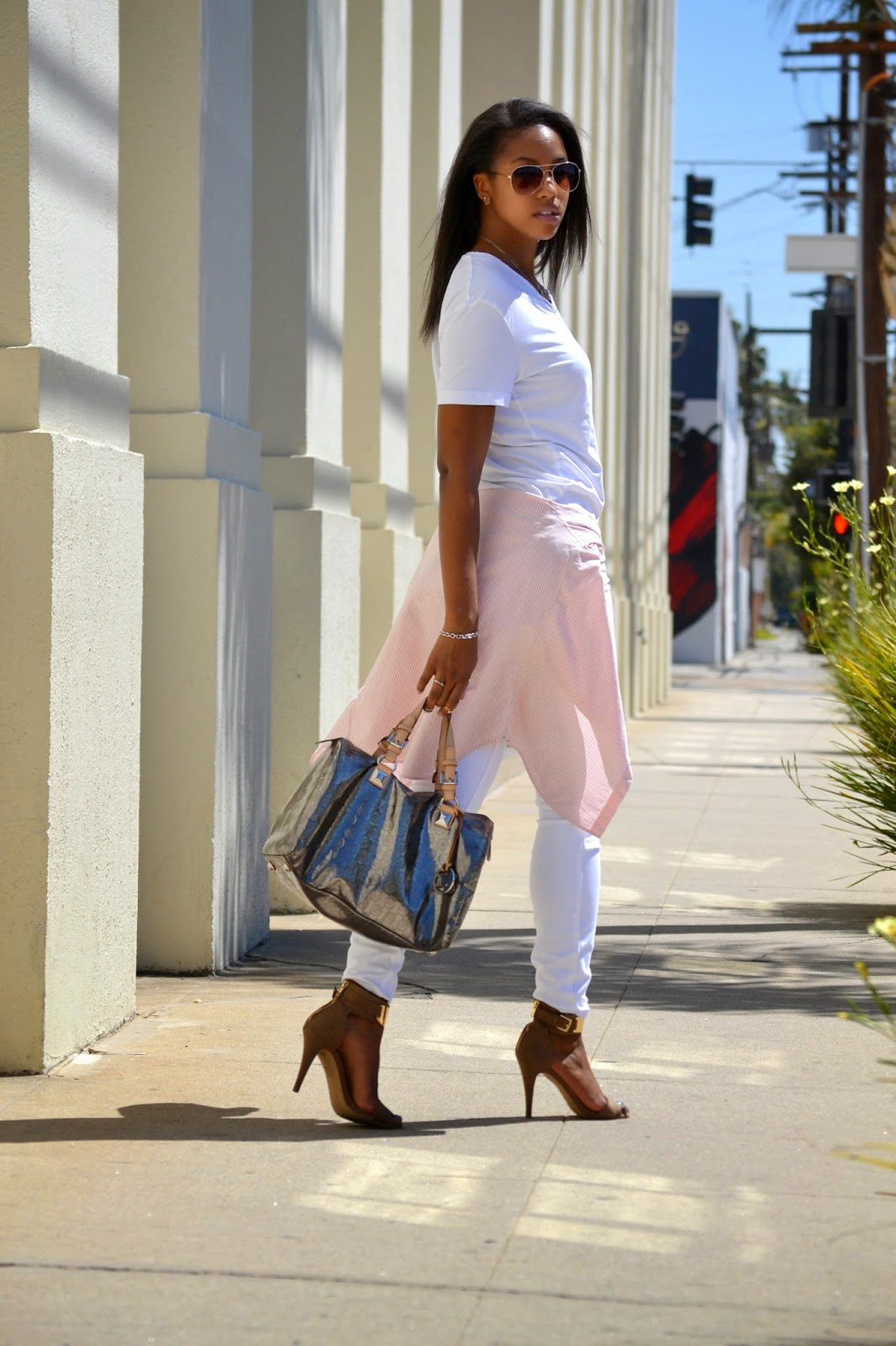 how to wear all white using Aldo HM Jolt Michael Kors Nixon Ralph Lauren and Tiffany Co