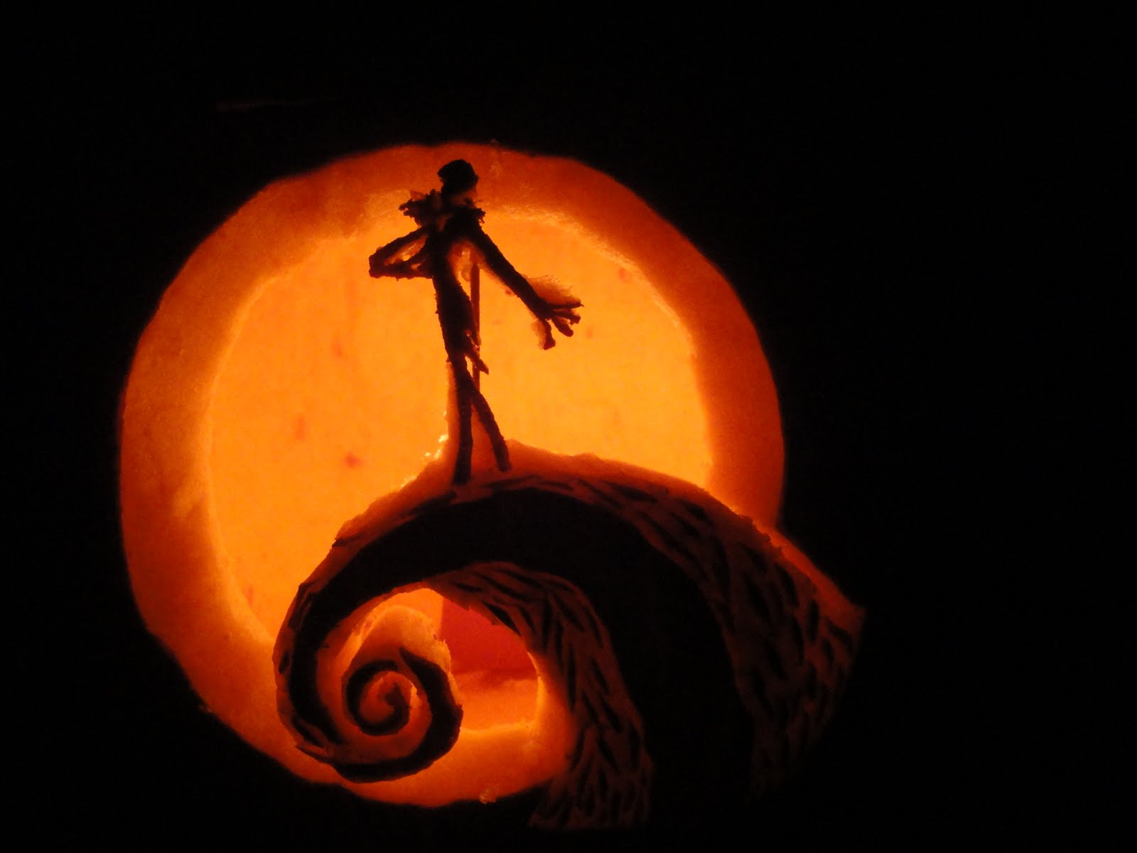 Nightmare Before Christmas Pumpkin Pattern