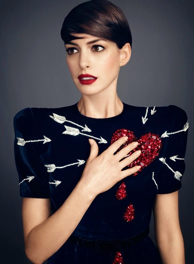Schiaparelli Fall 2014 Couture Black Velvet Dress With Sequined & Beaded Red Heart Detail With Arrows Editorials