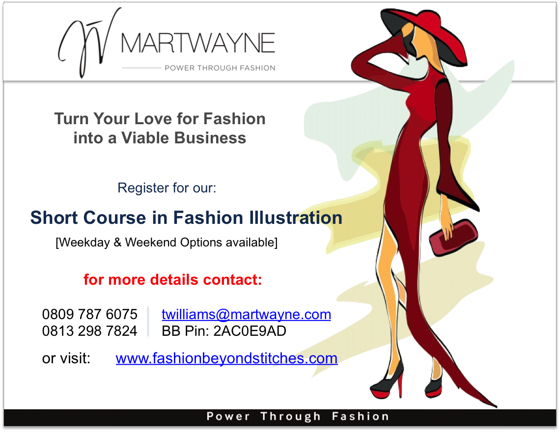 Short Course in Fashion Illustration - Start Dates: Wkend Option- 2 May, 2015; Wkday Option- 6 May.