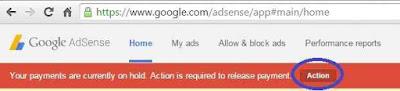 Tanda pemberitahuan jika uang dari google adsense bisa dicairkan