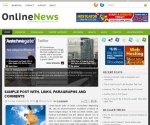 Online News Blogger Template