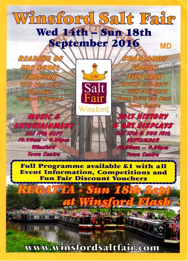 SEPTEMBER 14th-18th -WINSFORD SALT FAIR 2016