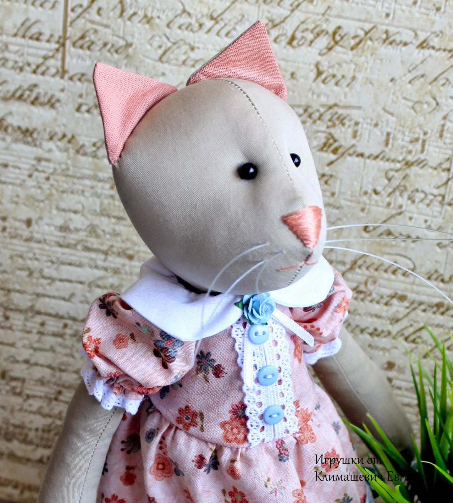 Кошка, кошечка, кот, игрушка кошка, игрушка, кошка с птичкой, кошка в платье, купить кошку, тильда кошка, тильда, игрушка тильда, текстильная игрушка, авторская игрушка, интерьерная игрушка