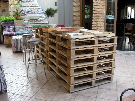 Outdoor Bar Table Made From Pallets