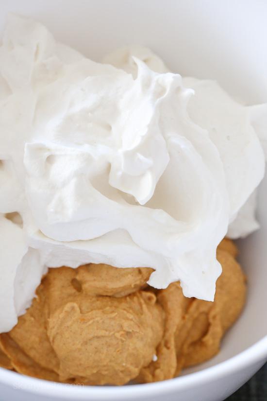 Pumpkin Spice No-Bake Cheesecake | Skinnytaste