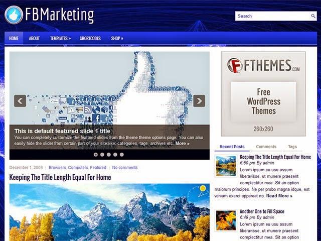 FBMarketing - Free Wordpress Theme