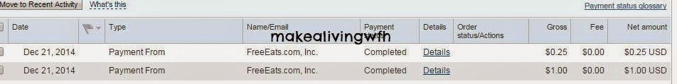 Payment proof from FreeEats - MLWFH