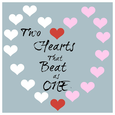 Love Two Hearts that Beat as One Valentine's Day printable, 