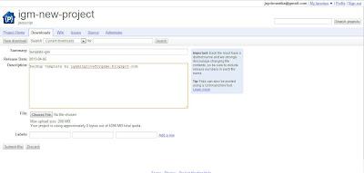 Upload Script Di Google Code