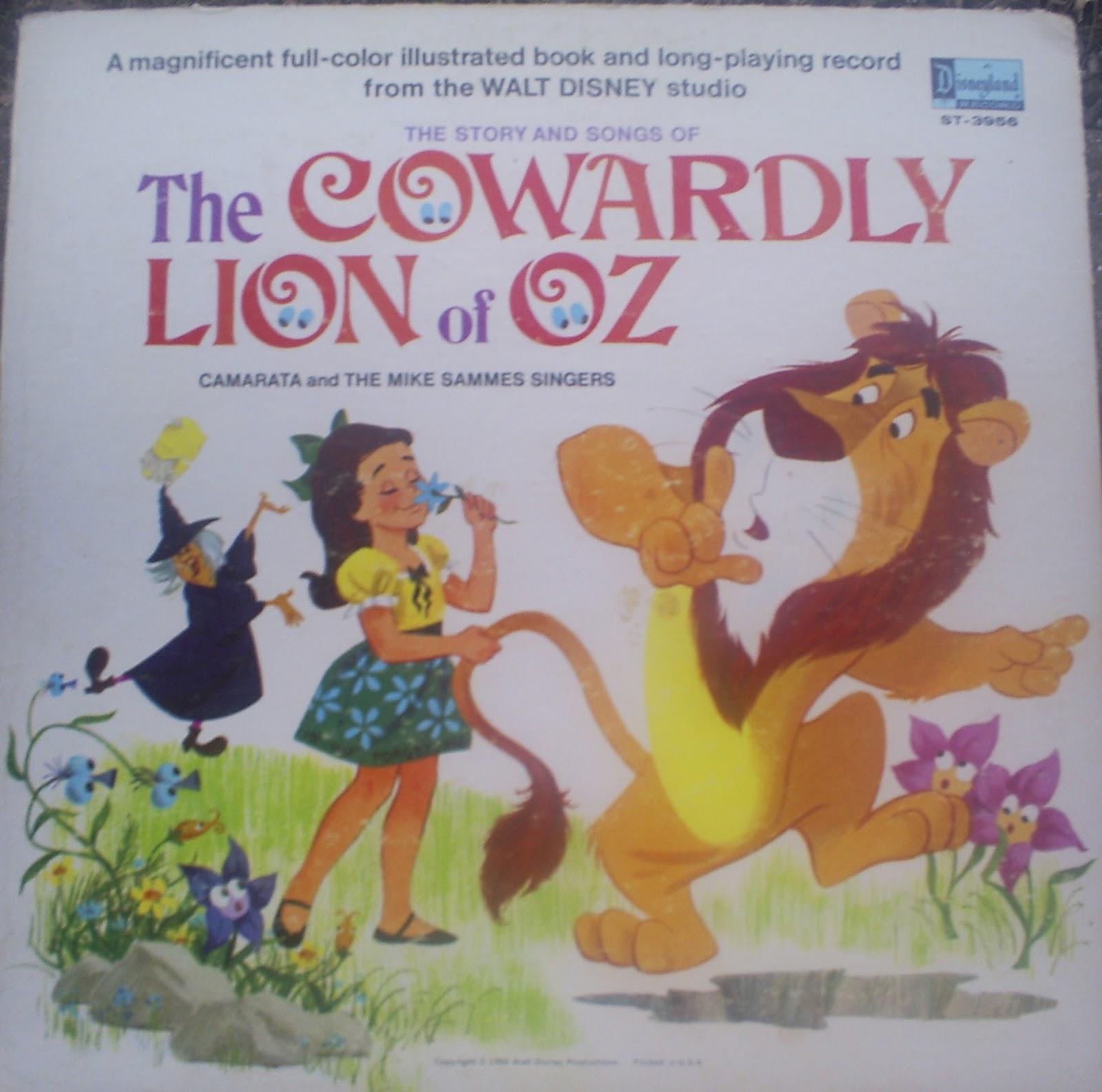 The Royal Blog Of Oz Disneyland Records Cowardly Lion