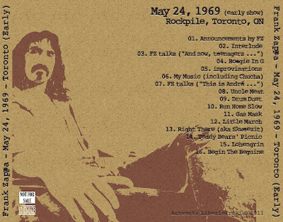 FZ 1969-05-24 Toronto - Early Show