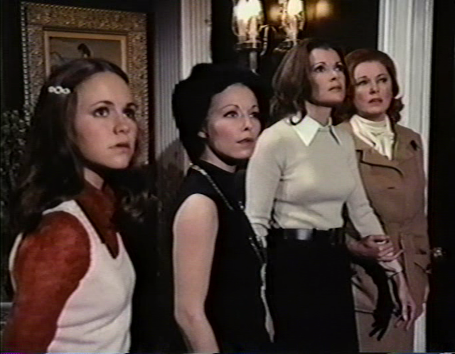 The Morgan Sisters (Sally Field, Jill Haworth, Jessica Walter and Eleanor Parker) in HOME FOR THE HOLIDAYS (1972)