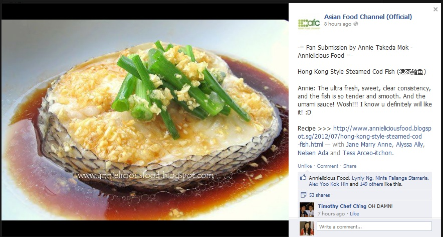Annielicious food hong kong style steamed cod fish and asia food recipe forumfinder Image collections