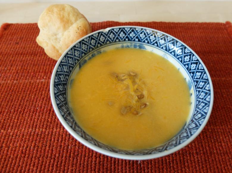 cheddar cauliflower squash soup