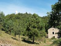 Situació de la Monjoia respecte l'observatori