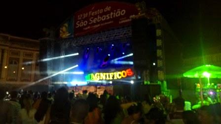 Noite de Sábado movimentadíssima na Festa de São Sebastião